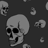 Teste padrão sem emenda do crânio Imagem de Stock