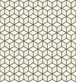 teste padrão sem emenda do cubo 3d Backgroun de envolvimento decorativo abstrato Imagem de Stock Royalty Free