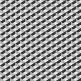 Teste padrão sem emenda do cubo geométrico Projeto gráfico da forma Ilustração do vetor Projeto do fundo Ilusão ótica 3D À moda m Fotografia de Stock Royalty Free