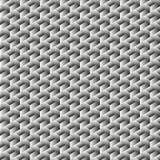 Teste padrão sem emenda do cubo geométrico Projeto gráfico da forma Ilustração do vetor Projeto do fundo Ilusão ótica 3D À moda m Foto de Stock