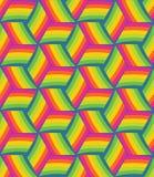Teste padrão sem emenda do cubo multicolorido Imagens de Stock Royalty Free