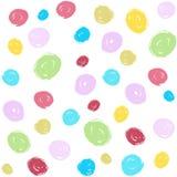 Teste padrão sem emenda do curso colorido fresco da escova das crianças Imagens de Stock