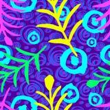Teste padrão sem emenda do curso da escova do vetor Linhas onduladas geométricas simples coloridas projeto abstrato do fundo fotos de stock royalty free