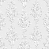 teste padrão sem emenda do damasco 3d floral Imagens de Stock