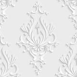 teste padrão sem emenda do damasco 3d floral Fotos de Stock