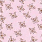 Teste padrão sem emenda do desenho da mão com cor pastel cor-de-rosa Imagens de Stock Royalty Free