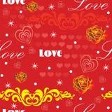 Teste padrão sem emenda 9 do dia de Valentim ilustração stock