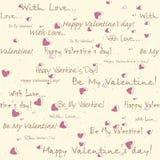 Teste padrão sem emenda do dia do Valentim Imagens de Stock Royalty Free