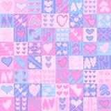 Teste padrão sem emenda do dia do Valentim Fotos de Stock