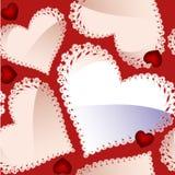 Teste padrão sem emenda do dia do Valentim com corações Fotografia de Stock Royalty Free