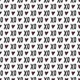 Teste padrão sem emenda do dia do ` s do Valentim ilustração royalty free