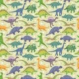 Teste padrão sem emenda do dinossauro ilustração do vetor
