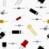 Teste padrão sem emenda do diodo Fotografia de Stock Royalty Free