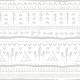 Teste padrão sem emenda do doodle do vetor Motriz na moda astecas Fotografia de Stock Royalty Free