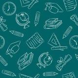 Teste padrão sem emenda do Doodle - escola Imagem de Stock Royalty Free