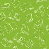 Teste padrão sem emenda do Doodle - livros Foto de Stock