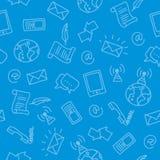 Teste padrão sem emenda do Doodle - uma comunicação Imagem de Stock Royalty Free