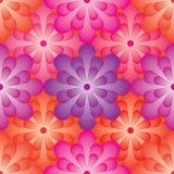 Teste padrão sem emenda do efeito da bola da flor Fotografia de Stock Royalty Free
