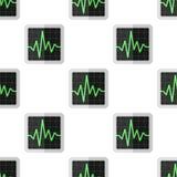 Teste padrão sem emenda do eletrocardiograma de ECG ilustração do vetor