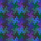 Teste padrão sem emenda do enigma de serra de vaivém de cores escuras do céu noturno ilustração do vetor
