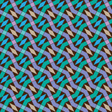 Teste padrão sem emenda do enigma do vetor Colorido repetindo a telha geométrica Fotografia de Stock Royalty Free