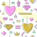 Teste padrão sem emenda do estilo abstrato de memphis ilustração royalty free