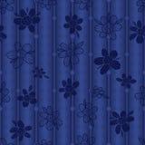 Teste padrão sem emenda do estilo da tela do silhoutte da flor Foto de Stock Royalty Free