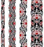 Teste padrão sem emenda do estilo do Haida Fotos de Stock