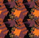Teste padrão sem emenda do estilo do vintage com ornamento geométrico Imagem de Stock