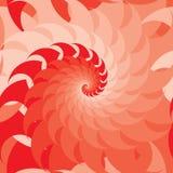 Teste padrão sem emenda do estilo vermelho da simetria do redemoinho ilustração stock