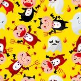 Teste padrão sem emenda do fantasma de Halloween dos desenhos animados Fotografia de Stock Royalty Free