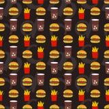 Teste padrão sem emenda do Fastfood Fotografia de Stock
