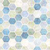 Teste padrão sem emenda do favo de mel da aquarela Vetor Fotos de Stock