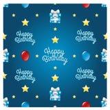 Teste padrão sem emenda do feliz aniversario imagem de stock royalty free