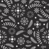 Teste padrão sem emenda do Feliz Natal no fundo preto ilustração royalty free