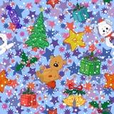 Teste padrão sem emenda do feriado do Natal Imagens de Stock