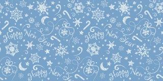 Teste padrão sem emenda do feriado Fundo do inverno para o papel e os cartões de envolvimento ilustração do vetor