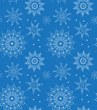Teste padrão sem emenda do floco de neve do vetor Aperfeiçoe imprimindo na tela ou forre Foto de Stock