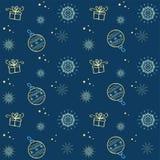 Teste padrão sem emenda do floco de neve do vetor do Natal Aperfeiçoe imprimindo na tela ou forre Foto de Stock