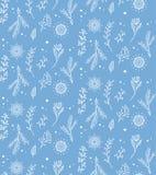Teste padrão sem emenda do floco de neve do vetor do Natal Aperfeiçoe imprimindo na tela ou forre Fotografia de Stock