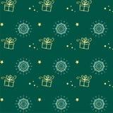 Teste padrão sem emenda do floco de neve do vetor do Natal Aperfeiçoe imprimindo na tela ou forre Imagens de Stock