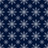 Teste padrão sem emenda do floco de neve Fundo do inverno Silhueta branca ilustração do vetor para o projeto do Natal Sinal do an Fotos de Stock