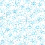 Teste padrão sem emenda do floco de neve Fundo do vetor do inverno Foto de Stock Royalty Free