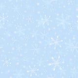 Teste padrão sem emenda do floco de neve macio para envolver Foto de Stock Royalty Free