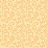 Teste padrão sem emenda do flourish abstrato Fundo de repetição alaranjado pálido lindo Fotos de Stock Royalty Free