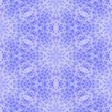Teste padrão sem emenda do fractal floral branco azul do floco de neve ilustração do vetor