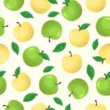 teste padrão sem emenda do fruto da maçã ilustração do vetor