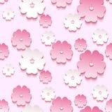 Teste padrão sem emenda do fundo bonito, flor de 3d sakura Foto de Stock Royalty Free