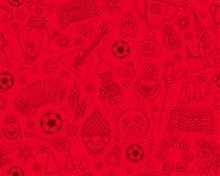 Teste padrão sem emenda do fundo do campeonato 2018 do futebol do futebol do campeonato do mundo do russo Imagens de Stock Royalty Free