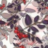 Teste padrão sem emenda do fundo com as folhas de outono e o rowa coloridos Fotos de Stock Royalty Free